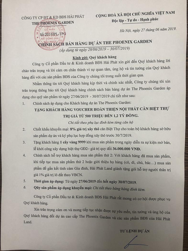 chinh sach ban hang biet thu the phoenix garden